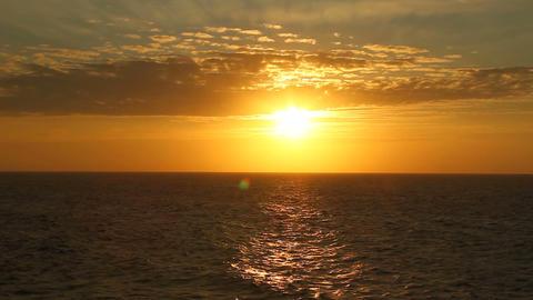 Sun Over Ocean 01 Footage