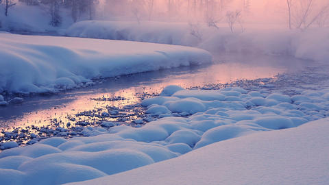 Evening Mist on a Winter River Live Action