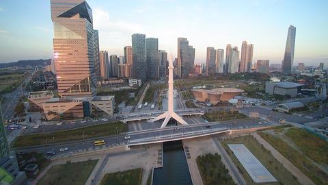 송도 센트럴파크 교각 PAN (Incheon songdo central park)3 Footage