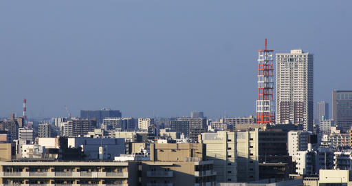 A cityscape at the urban city in Tokyo high angle long shot Live Action