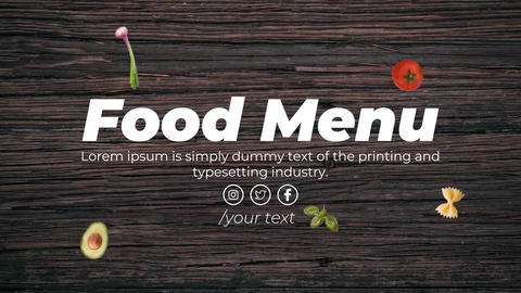 Food Menu After Effects Template