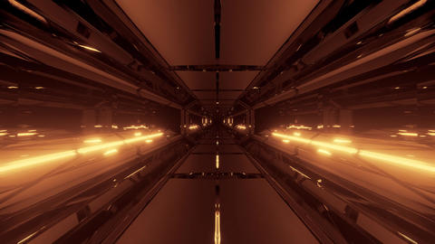 3d illustration motion background live wallpaper with futuristic scifi tunnel Animation