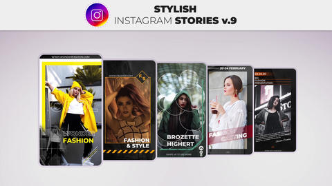 Stylish Instagram Stories v 9 After Effects Template