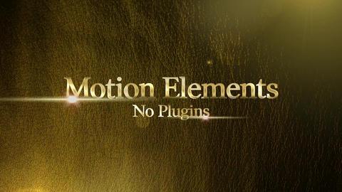 ゴールデンリッチタイトル(Golden Ricth Title) After Effectsテンプレート