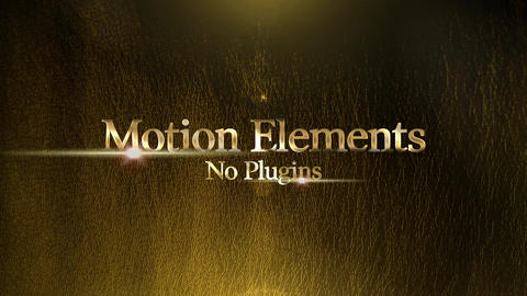 Golden title After Effects Template