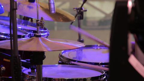 Man Playing Drums Closeup Live Action