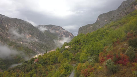 Gorgeous mountains with low clouds and fog, mountain range in Turkey, 4k Live Action