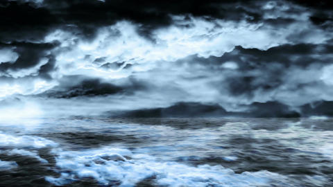 Water and storm Animation