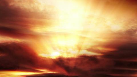 Sunset sky loop Footage