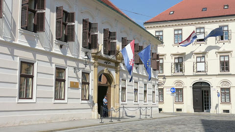 The parliament of Croatia in Zagreb Footage