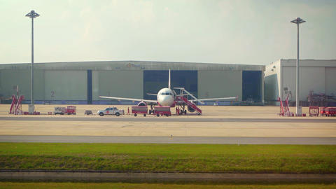 Air Asia Passenger Plane on the Tarmac at Don Muang International Airport