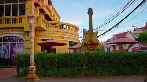 Hard Rock Cafe in Siem Reap. Video 3840x2160 Live Action