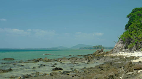 Undeveloped Tropical Beach Wilderness in Phuket. Thailand, Live Action