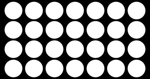 abstract multiple circles brush stroke black and white transition background, animation of paint Live Action