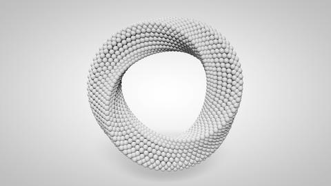 3d render Abstract ring rotating. Moebius ring. White clean rings animation Live Action