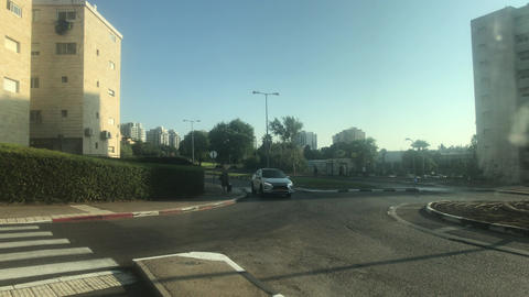 Haifa, Israel - city bus traffic at speed part 14 Live Action