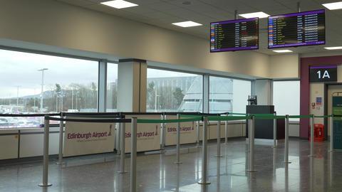 Gates at Edinburgh Airport - EDINBURGH, SCOTLAND - JANUARY 10, 2020 Live Action