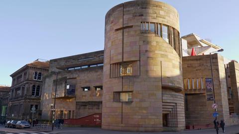 National Museum of Scotland in Edinburgh - EDINBURGH, SCOTLAND - JANUARY 10 Live Action