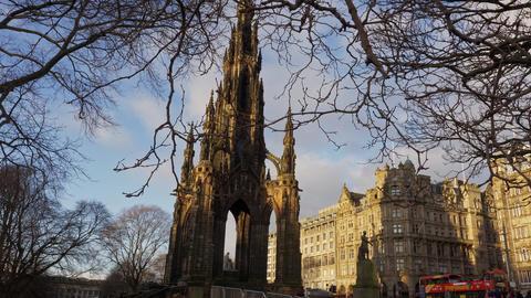 Scott monument in Edinburgh Live Action