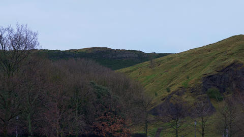 Holyrood Park in Edinburgh Live Action