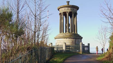Famous Calton Hill in Edinburgh Live Action