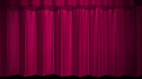 Opening stage curtain on black background Live Action