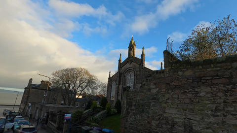 Small church in the streets of Edinburgh - EDINBURGH,… Stock Video Footage