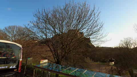 Edinburgh Castle on Castlehill - EDINBURGH, UNITED KINGDOM - JANUARY 11, 2020 Live Action