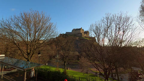 Edinburgh Castle on Castlehill - EDINBURGH, UNITED… Stock Video Footage