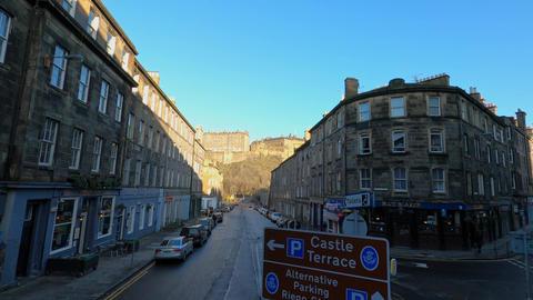 Cityscapes of Edinburgh the capital city of Scotland - EDINBURGH, UNITED KINGDOM Live Action