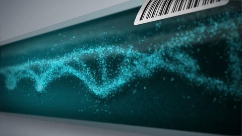 DNA molecule in test tube. DNA helix as a symbol for… Stock Video Footage