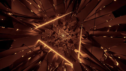 3d illustration motion background live wallpaper with glowing abstract triangle Animation