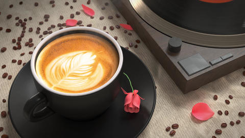 Coffee and Jazz. Music Logo Opener After Effects Template