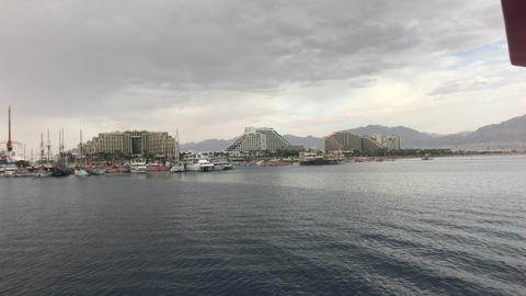 Eilat, Israel - Walk on the sea overlooking the mountains part 20 Live Action