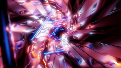 colorful futuristic neon tunnel 3d render animation Videos animados