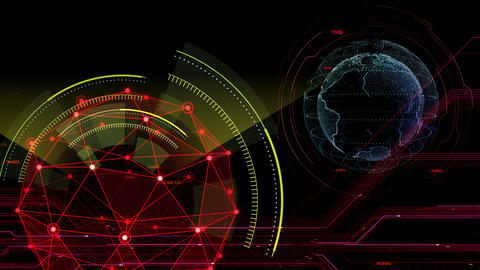 Digital data computer AI technologies concepts Background 5 black14 CG動画