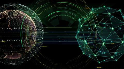 Digital data computer AI technologies concepts Background 5 black17 CG動画