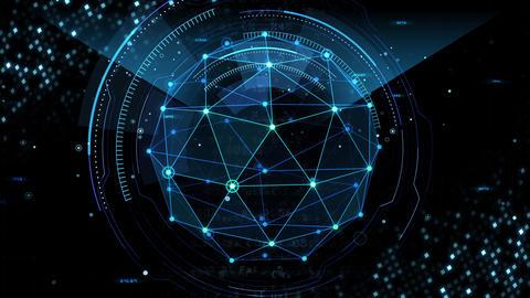 Digital data computer AI technologies concepts Background 5 black19 Animation