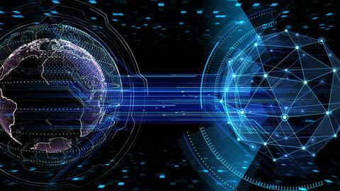 Digital data computer AI technologies concepts Background 5 black25 CG動画