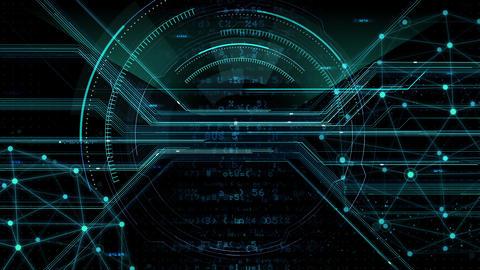 Digital data computer AI technologies concepts Background 5 black05 Animation