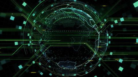 Digital data computer AI technologies concepts Background 5 black06 CG動画