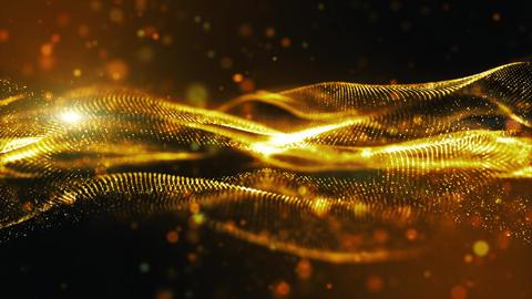 Digital particles technology background 00424 Animation