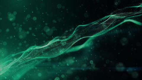 Digital particles wave 00430 CG動画