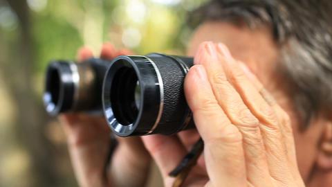soldier looking through binoculars Live Action
