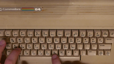 4K Typing on Commodore 64 Computer Keyboard Live Action