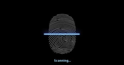Fingerprint biometric securuty access animation - access denied Live Action