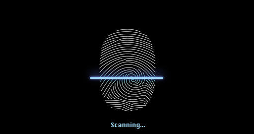Fingerprint biometric securuty access animation - access granted Live Action