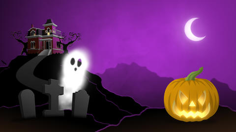 Animated Halloween Characters Backdrop Animation