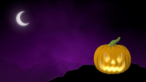 Animated Halloween Jack-O-Lantern Backdrop Animation