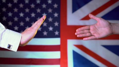 The conflict between the US and the UK. Gap business, relations, policies Live Action